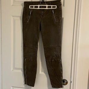 J Brand cropped skinny jeans with zipper detail